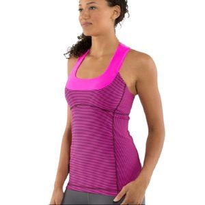 LULULEMON Scoop Neck Tank Top racerback Striped 8